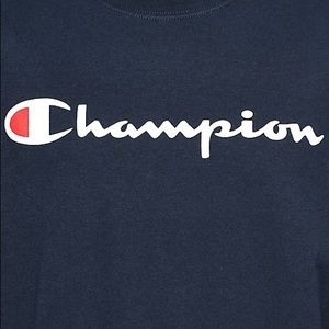 b04374d4e Champion Shirts   Patriotic Script Navy Long Sleeve Tshirt   Poshmark